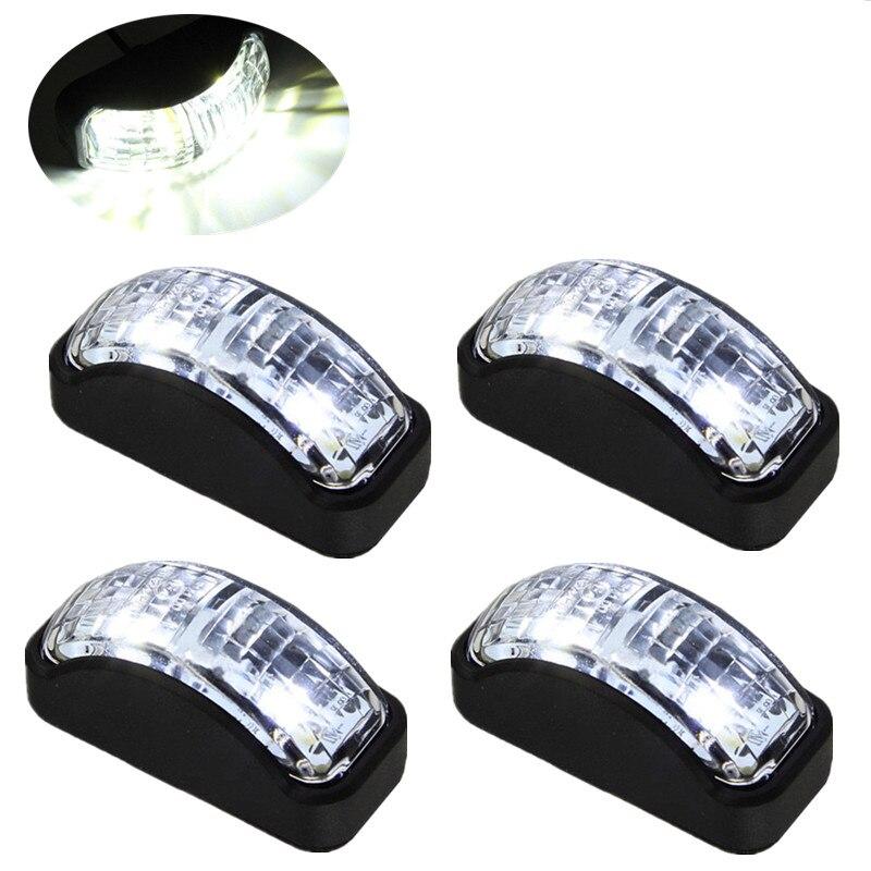 4PCS LED Side Marker 12v Truck SMD LED Car Auto Truck Trailer Side Marker Light Blinker White  Indicator Led Lights Accessories