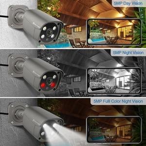 Image 5 - Techage 8CH 5MP HD POE NVR ערכת אבטחת CCTV מערכת שתי דרך אודיו AI פנים לזהות IP מצלמה חיצוני וידאו מעקב מצלמה סט