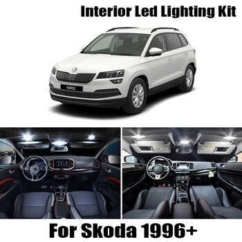 Pure Cool white canbus car LED lamp bulbs Error free Interior map dome Lights kit for Skoda for Octavia sedan combi 1996+