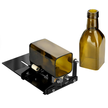 Glass Bottle Cutter for DIY Glass Cutting Machine Metal Pad Bottle Holder and Round Wine Beer Glass Sculptures Cutter pair of fashionable beer bottle and wine glass shape alloy cufflinks for men