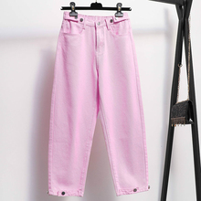 Boyfriend Jeans For Women Spring Autumn Casual Denim Pants Mom Jeans Streetwear Female Korean Vintage High Waist Wide Leg Pants