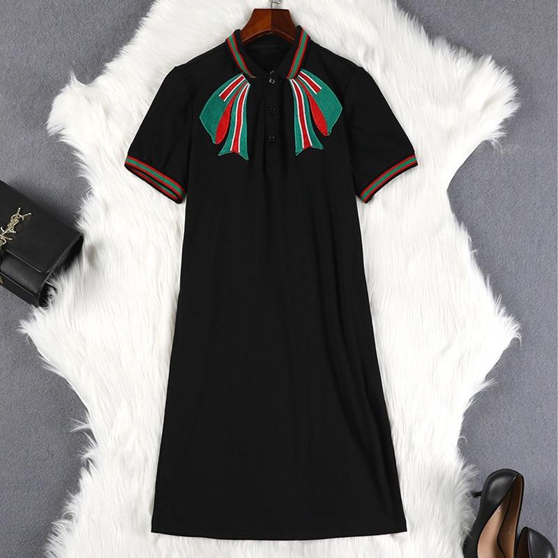 Lan Mu Square 2019 Summer Wear Chubby Sister Fu Gu Qun Large Size Dress Slimming Belly Covering Fat Mm Dress 10372