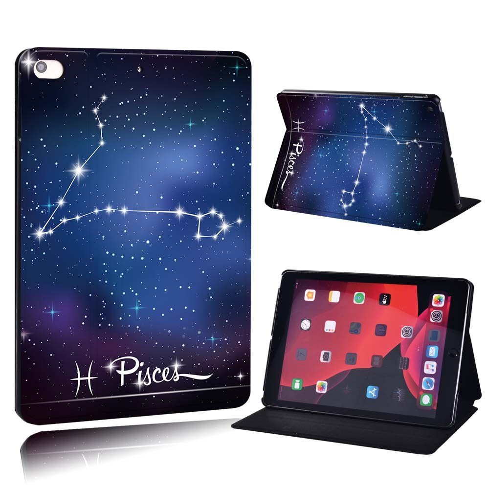 star sign - Aquarius Silver For Apple iPad 8 10 2 2020 8th 8 Generation A2428 A2429 PU Printed Star Sign