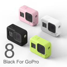 For GoPro 8 Accessory Soft Silicone Case Skin Protective Shell Housing Silicone Cover for Go Pro Hero 8 Black Action Camera