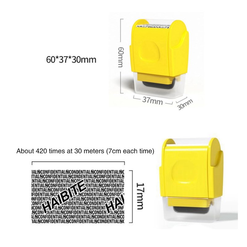 1PCS Stamp Seal Roller Theft Protection Code Guard Your ID Confidentiality Package Private Information Confidential Seal
