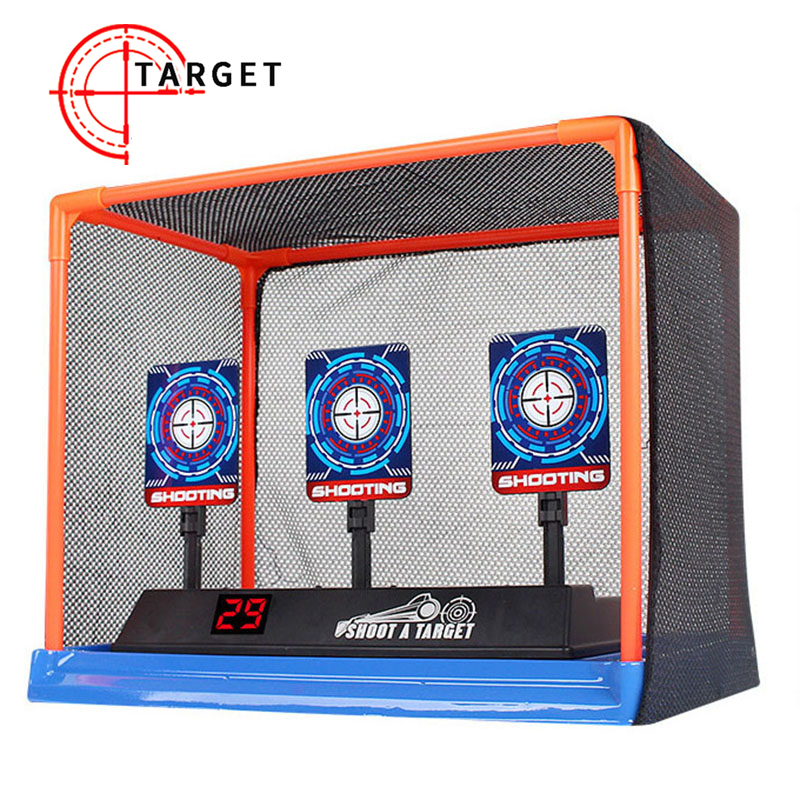 Precision Scoring Auto Reset Electric Target For Nerf Toys Outdoor Sports Fun Toys EVA Bullet Gun Toy Accessories Kids Gift