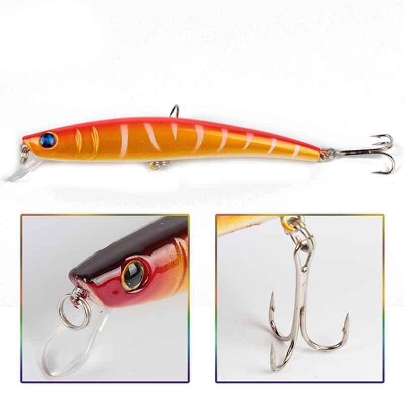 14 pièces appâts de pêche pêche en mer leurres ensemble Laser-leurres ensemble de pêche Kits pour basse méné manivelle avec paillette Triple crochet 11.5cm