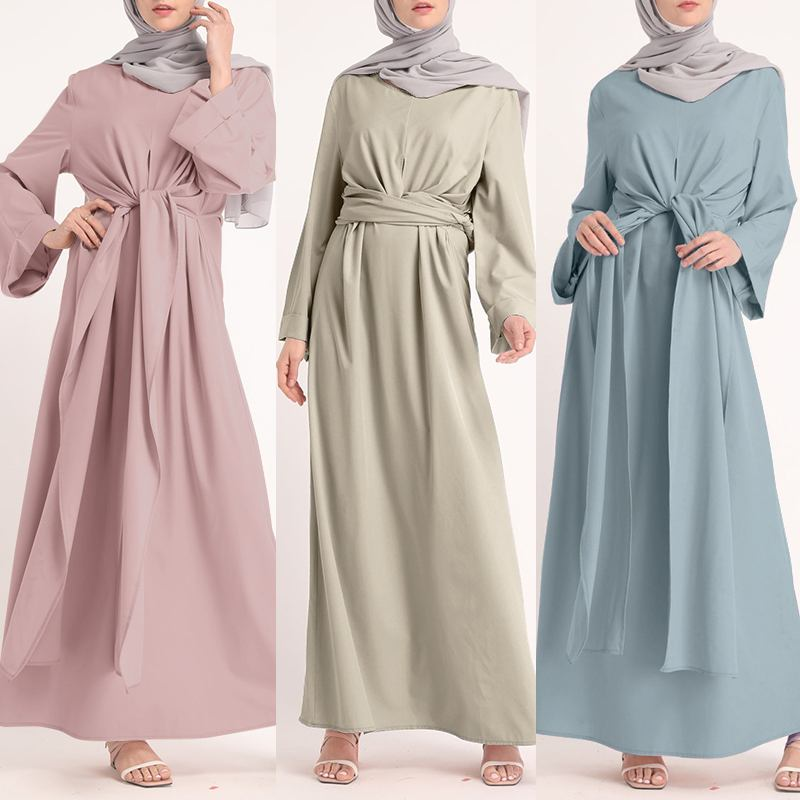 ZANZEA Muslim Dresses Eid Mubarak Kaftan Dubai Abaya Turkey Fashion Hijab Dress Islam Clothing Maxi Sundress For Women Vestidos 5