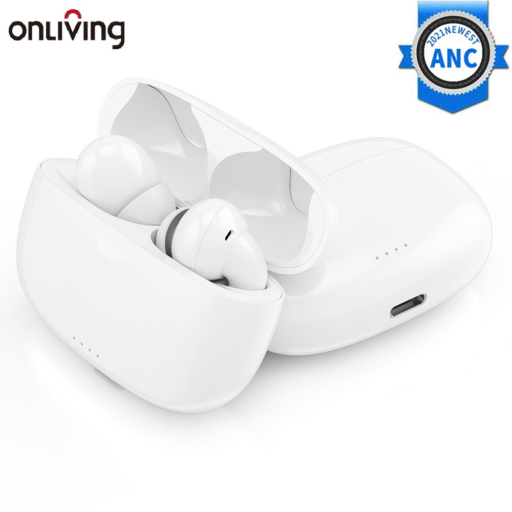 ONLIVING EP29 Bluetooth 5.2 Wireless Earphone Active Noise Cancelling TWS Earbuds ANC Eaphone iPx5 Waterproof with Dual Micphone