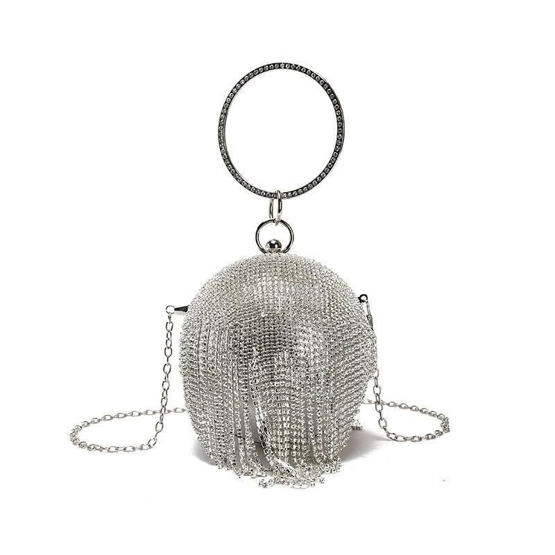 sphère cristal sac a main femme ancien sac à bandoulière femme 2019 luxe sacs à main argent or diamant sacs de soirée anneau poignée