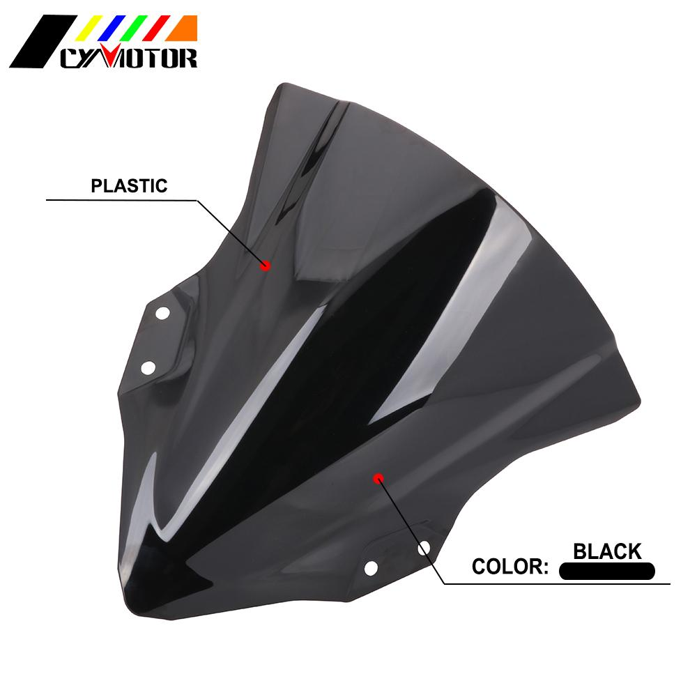 Motorcycle Accessories Acrylic Windshield <font><b>Windscreen</b></font> Wind Deflector For Kawasaki <font><b>Ninja</b></font> <font><b>400</b></font> 2018-2019 image