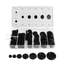 170Pcs Rubber Grommet Assortment Contain 7 Popular Sizes Firewall Hole Plug Set Electrical Wire Gasket Kit For Car