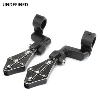 Motorcycle Highway Pegs Cross Footrest Mount Clamp 25/32/38mm Engine Guard for Harley Touring Road Electra Glide Softail Dyna