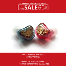 Hisenior Hybrid In Ear Custom Earphone Monitors H9 with 2Dynamic and 16Balanced Armature Drivers 8Core Upgrading Cable