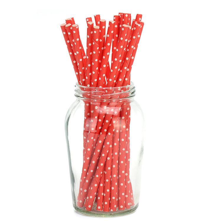 Biodegradable Disposable Paper Straw Food Grade Fruit Juice Straw Europe And America Hot Sales Wedding Party Accessories Manufac