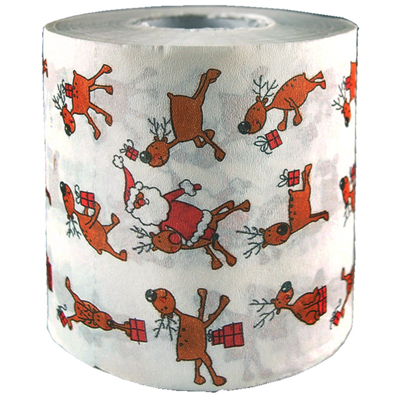 Christmas Toilet Roll Paper Home Santa Claus Bath Toilet Roll Paper Christmas Supplies Xmas Decor Tissue Roll