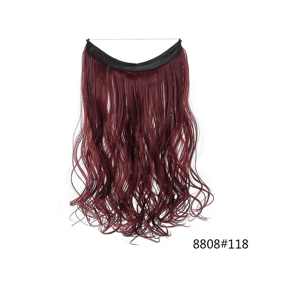 Extensões de cabelo de halo de onda