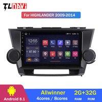 2G+32G IPS For Toyota Highlander 2 XU40 2007 2014 Car Radio Multimedia Video Player Navigation GPS Android 8.1
