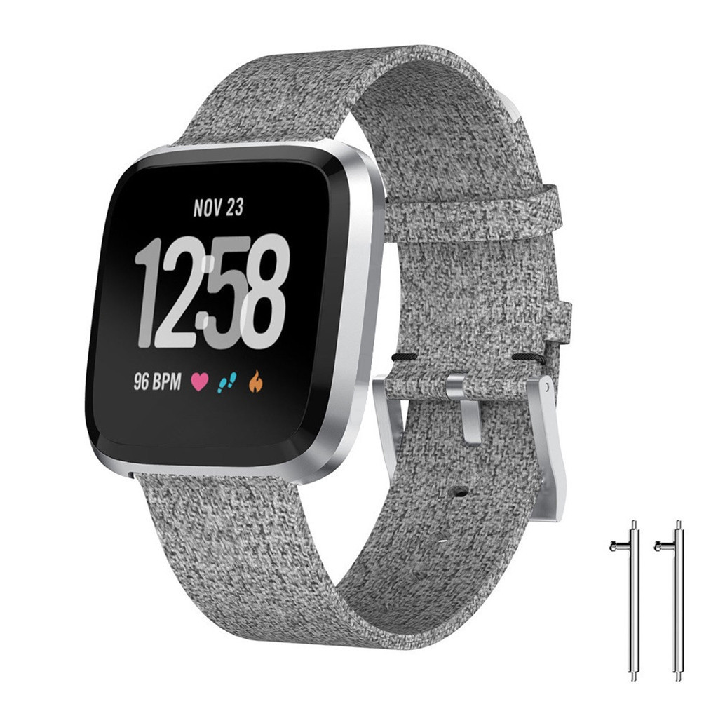wearable devices Luxury Woven Fabric Replacement Accessories Wristband Straps For Fitbit Versa 2 relogio inteligente horloge