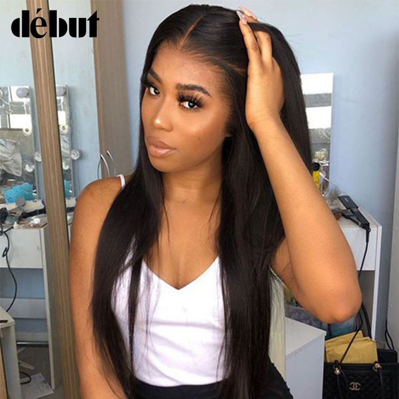 Debut 18 Inches Long Straight Human Hair Wigs For Women U Part Lace Front Reny Brazilian Hair Wigs Women's Wigs Free Shipping