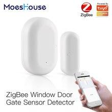 Tuya zigbee умный дверной датчик для ворот детектор умная домашняя