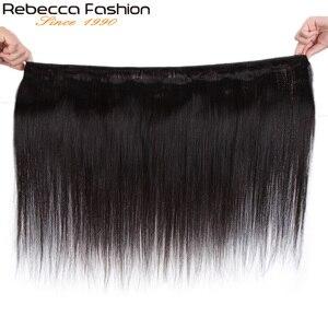 Image 3 - Rebecca düz saç demetleri fırsatlar perulu 100% insan saçı örgüsü demetleri 8 ila 28 inç düz insan saçı postiş