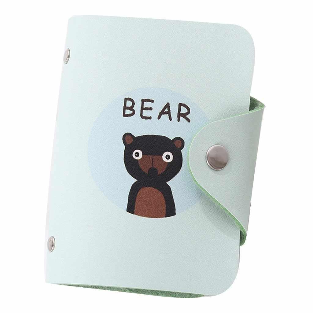 Porte-carte mode créative frais mignon animaux femmes carte bancaire paquet pièce sac carte de crédit porte-carte d'identité porte carte portefeuille *