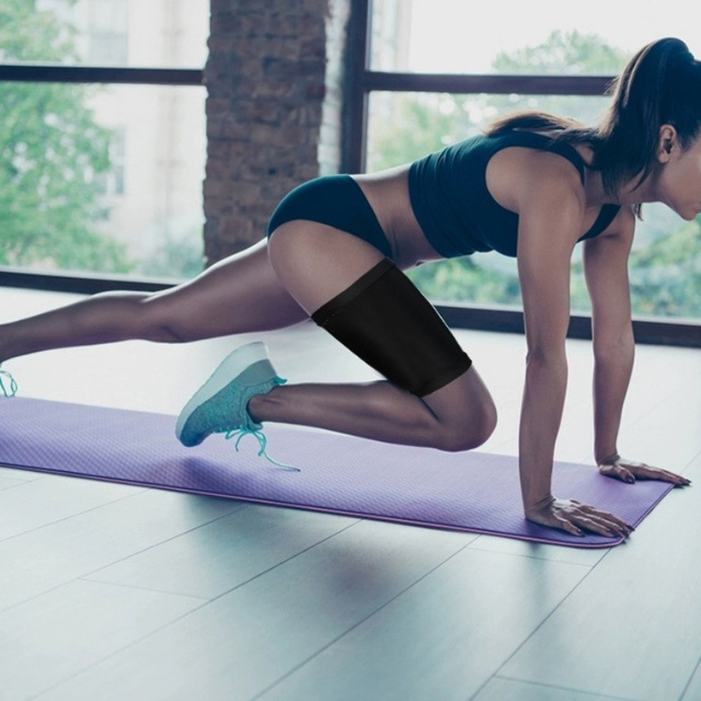 Women Body Shaper Sauna Slimmer Arm Thigh Leg Trimmer Sleeves Compression Belt Sweat Shaping Fat Burning Leg Warmers Corset 5