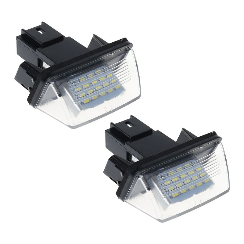 1 Pair 18 <font><b>LED</b></font> License Number Plate <font><b>Lights</b></font> Lamp For <font><b>Peugeot</b></font> 206 207 307 <font><b>308</b></font> 406 Citroen C3/C4/C5/C6 image
