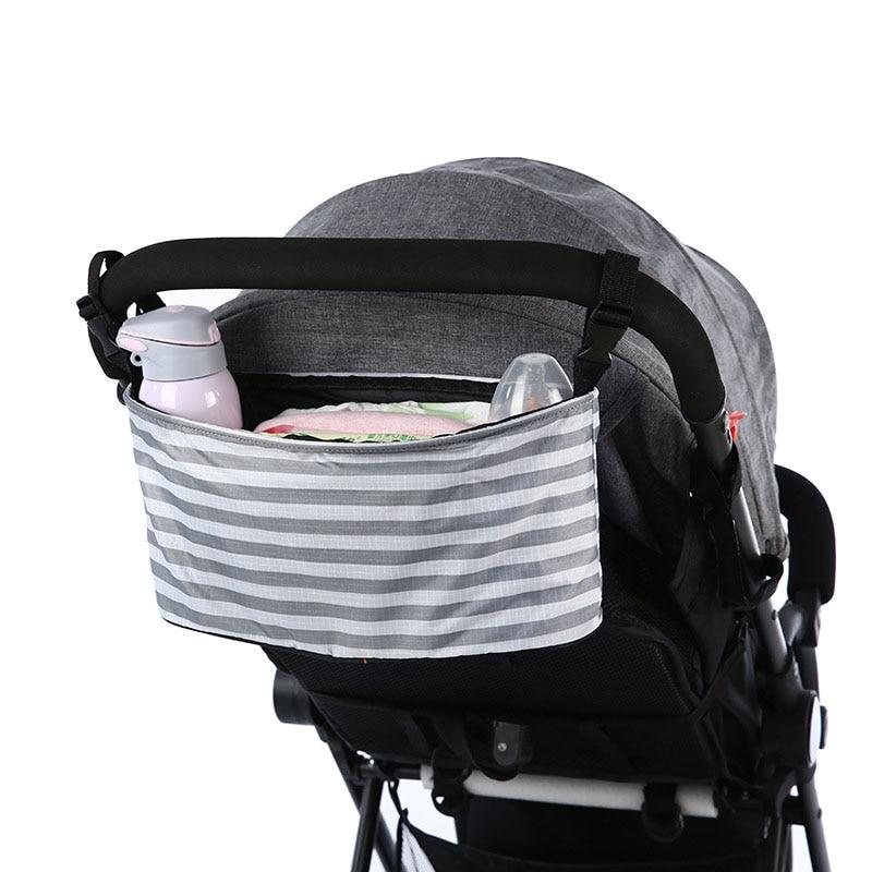 1pcs Large Capacity Baby Stroller Diaper Bag Pram Buggy Waterproof Bottle Cup Holder Cart Stroller Organizer Nappy Hanging Bag