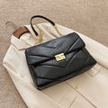 Модные вместительные сумки через плечо из искусственной кожи для женщин, новинка зимы 2020, сумка, роскошная дизайнерская сумка на плечо с цеп...