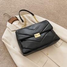 Moda grande-capacidade grande couro do plutônio crossbody sacos para as mulheres 2020 inverno nova bolsa de luxo designer corrente bolsa de ombro