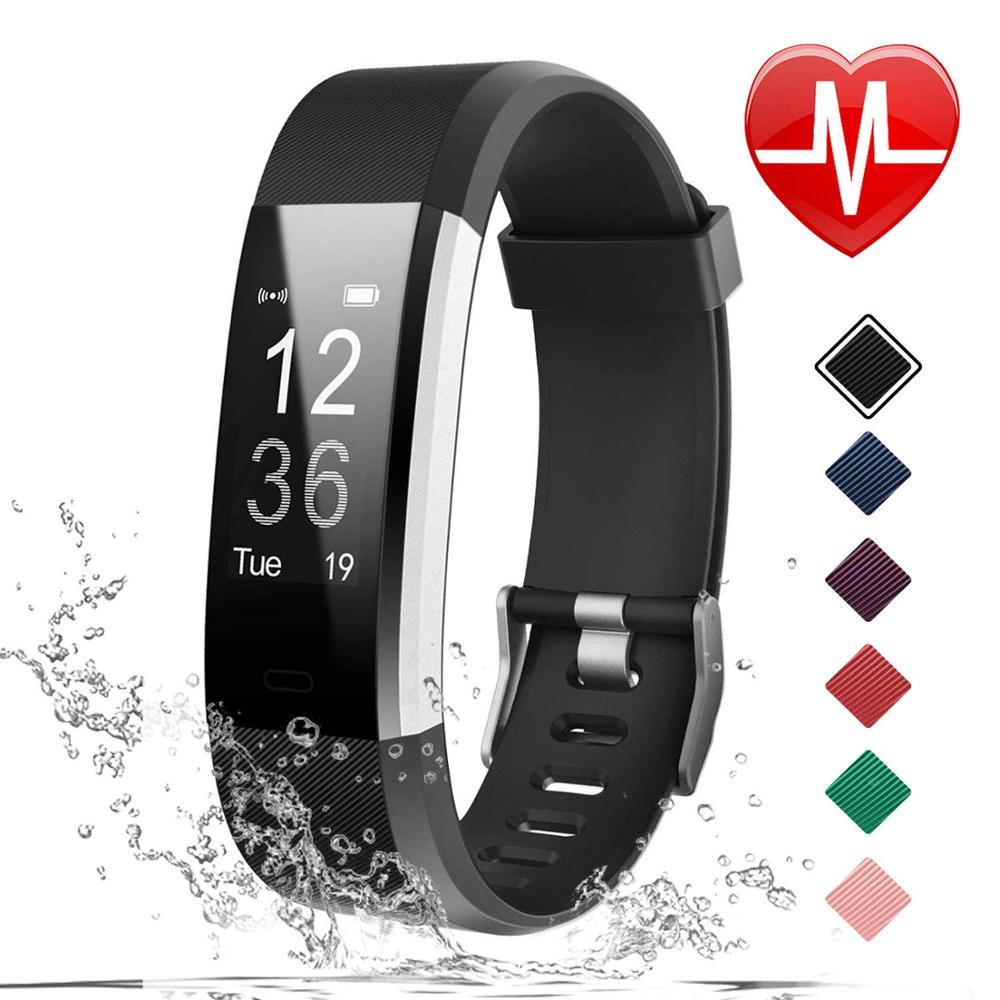 Foloy men watch Digital wristwatches women health Bracelet Heart Rate Blood Pressure Smart Band Fitness Tracker watches 115plus in Digital Watches from Watches
