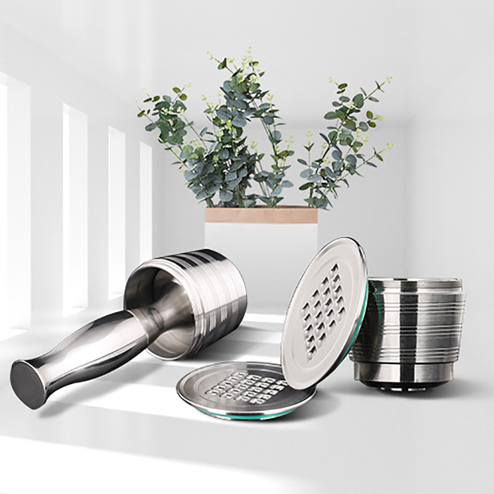 Nespresso Refillable Capsule Reusable Coffee Filter Dripper Steel Nespresso Cafeteira Capsulas De Cafe Recargables Reutilizables