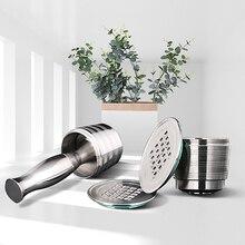 Nespresso doldurulabilir kapsül yeniden kullanılabilir kahve filtresi damlatıcı çelik Nespresso Cafeteira Capsulas De Cafe Recargables Reutilizables