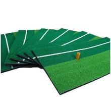 1set 30cm x 60cm Golf Practice Mat with 1 70mm Golf Rubber Tee Training Hitting Pad Grassroots Green Golf Backyard Putting Green