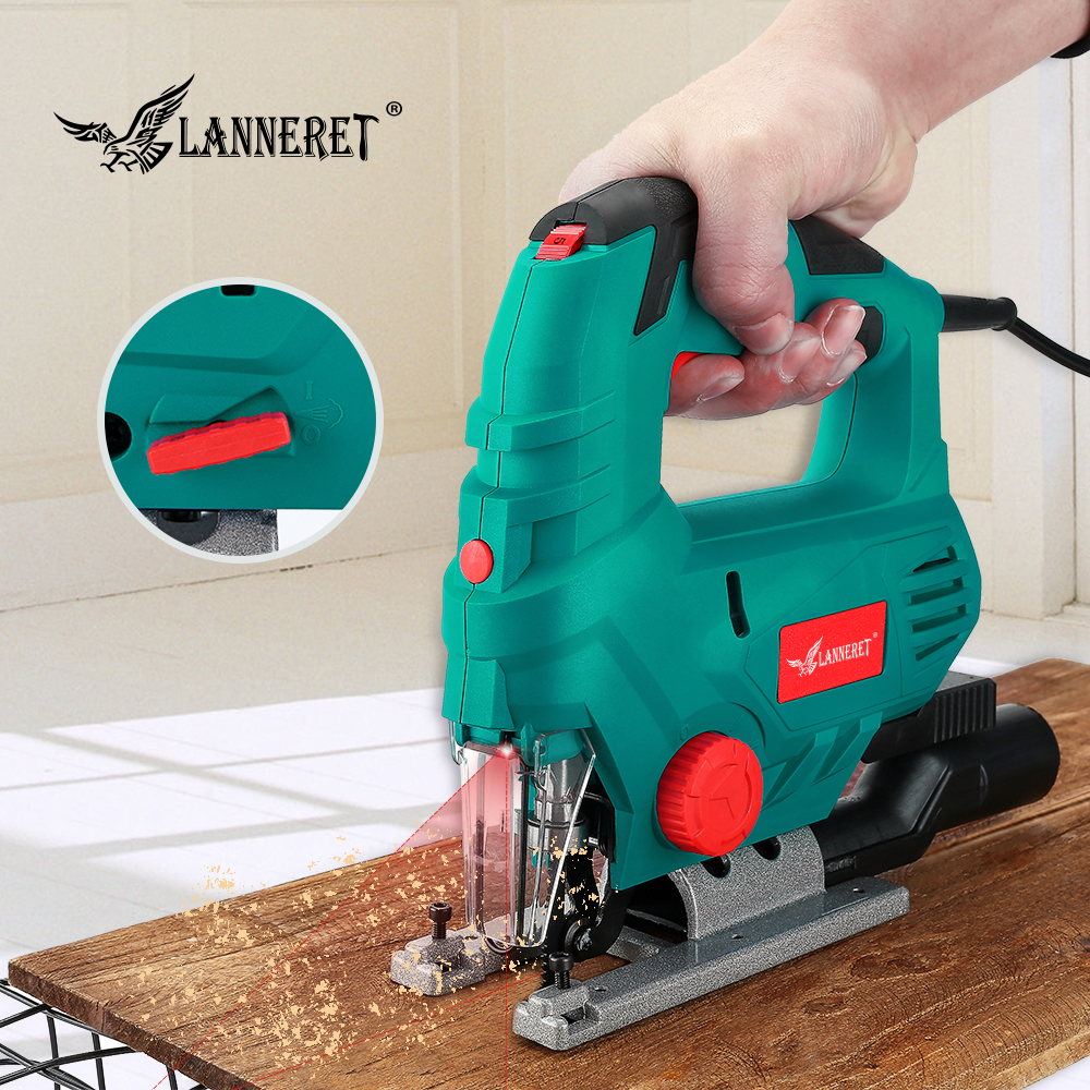 Laser Jig Saw 800W Variable Speed Multifunctional Jigsaw Electric Saws Metal Ruler 2 Pieces Saw Blades For Woodworking