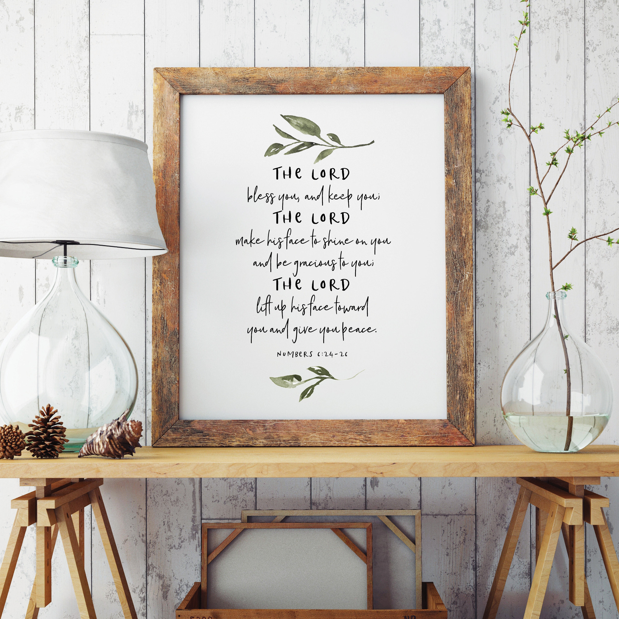 Bible Verse Quote Poster Prints The Lord Bless You And Keep You Christian Home Decor Scripture Wall Art Canvas Painting Picture