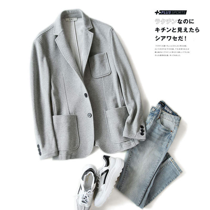Autumn Business Quality 2019 Autumn And Winter Knitted Casual Suit Slim Fit MEN'S Coat Two-Button Single West Men'S Wear Batch
