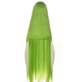 Code Geass C.c Cc Empress Wig Cosplay Costume 80cm Green Long Straight heat-resistant Fiber Hair Peruca Anime Wigs 3