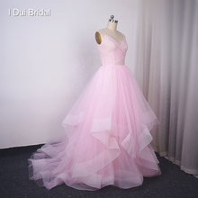 Cascading Skirt Wedding Dresses with Stardusted Tulle Ball Gown Sparkle Material Ruffles Skirt Layers Bridal Gown(China)
