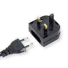 1 PC European Euro EU 2 Pin to UK 3Pin Power Socket Travel Plug Adapter Converter New
