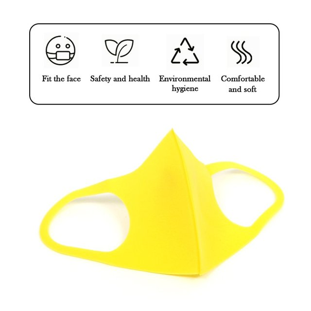 Elastic Anti Dust Mask Washable Mouth Mask Children Respirator Breathable Anti-bacterial Proof Flu Child Face Masks color random 2