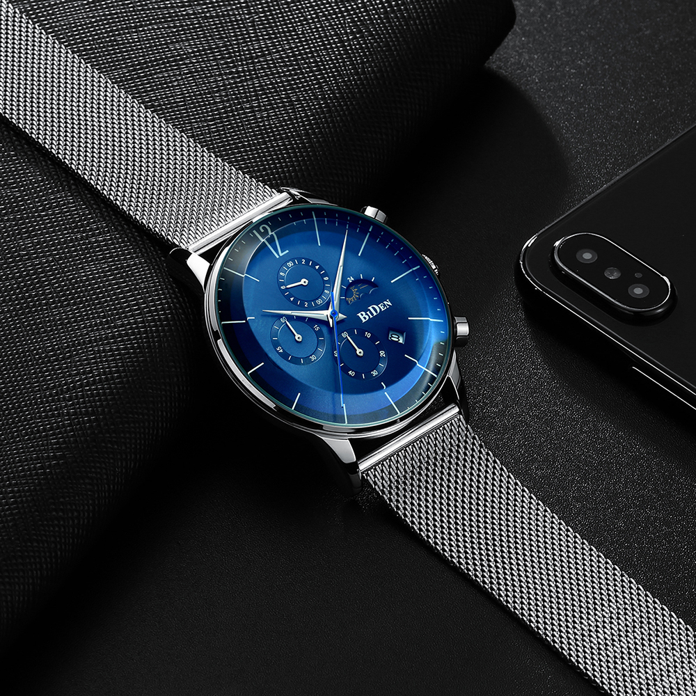 Fashion Watch Mens Waterproof Slim Mesh Strap Male Wristwatches For Men Quartz Sports Watch Clock Reloj Mujer Stainless Steel