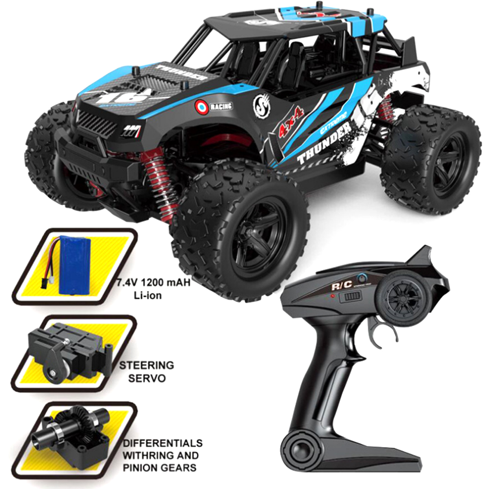 RC Car 1:18 radio-controlled machine 2.4G 4WD High Speed Fast 36KM/H radio-controlled climbing off-road racing for boy kids