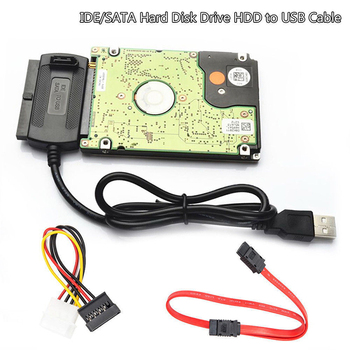 Adaptador SATA/PATA/IDE de alta calidad a USB 2,0, Cable Convertidor para disco...