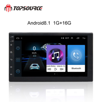TOPSOURCE 7 Android 8.1 GPS Navigation 2 Din Car Multimedia Player HD FM Car Audio Radio Stereo for Volkswagen Nissan Hyundai 9 66 android 8 1 universal car usb video audio multimedia gps radio fm am dvd player voice navigation for volkswagen series