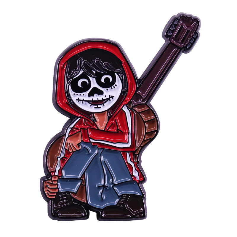 Coco Miguel kinder revers pin Tag der Toten boom fantasie cartoon decor