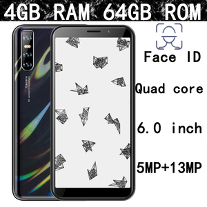 F2 13mp Global smartphones 2SIM Face ID unlocked 6.0'' 4G RAM 64G ROM Android mobile phone quad core celulares 3G WCDMA WIFI IPS