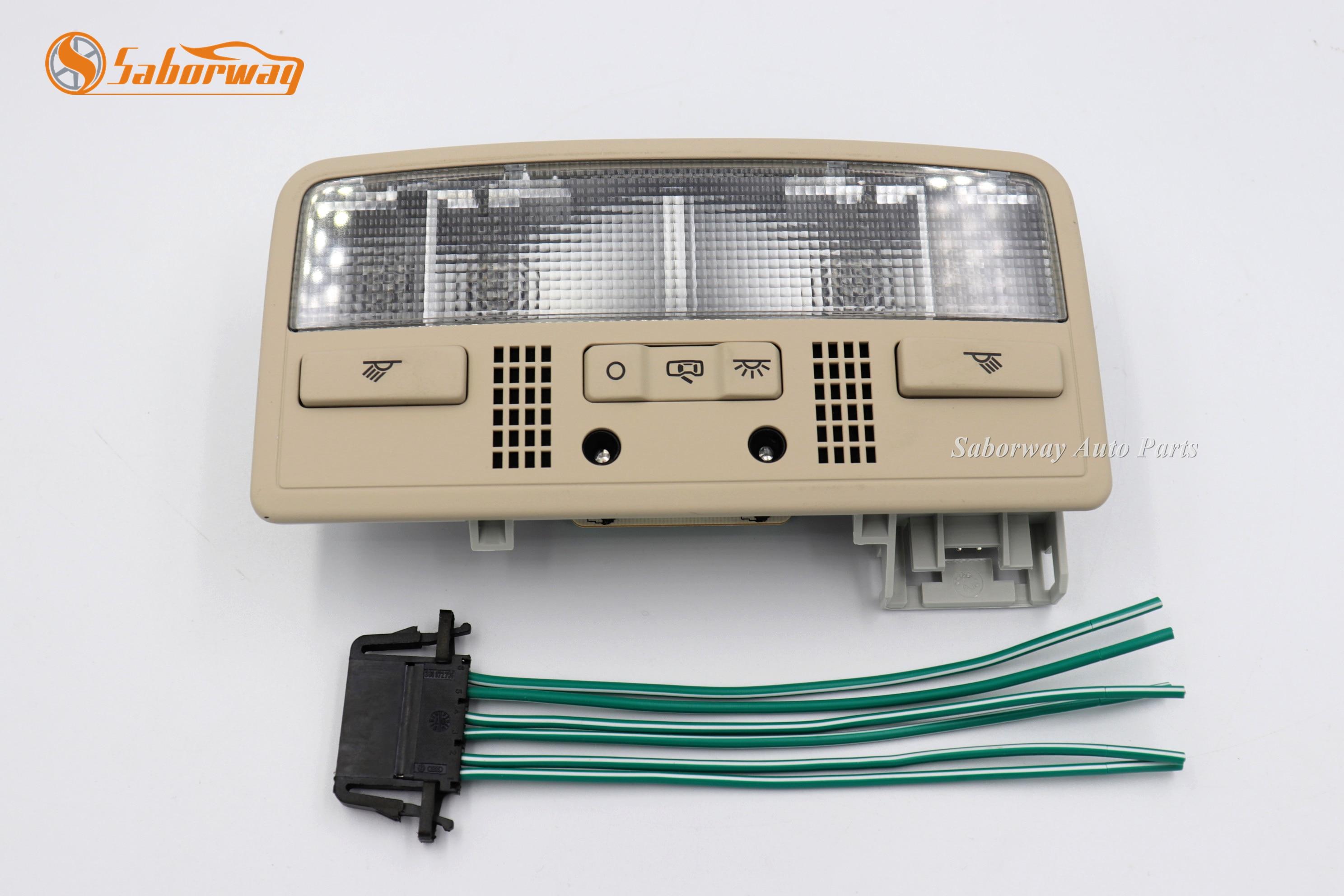 Saborway Beige Interior Dome Light Reading Lamp + Cable For Passat B5 Octavia Superb 3B0 3BD 947 105 2EN 3BD947105